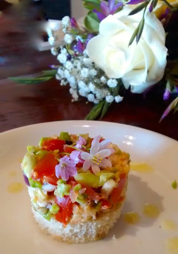tartare verdure vegetariano baccelli pecorino
