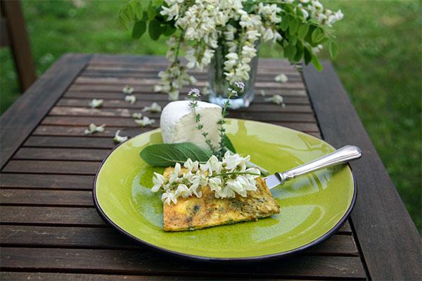 frittata, fiori di acacia, world friends, foodies festival
